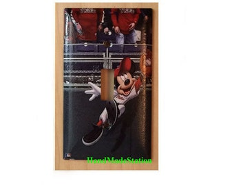 Mickey mouse Phillies Baseball Light Switch & Duplex Power Outlet Cover Plate Home decor