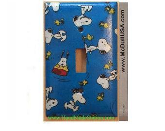 Peanuts Snoopy Woodstock Toggle, Rocker Light Switch & Power Duplex Outlet Plate Cover Home Decor