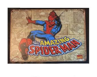 Amazing Spider-Man Spider man comics Comics Sign Wall Metal Sign plate Home decor 11.75 x 7.8 inch