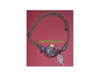 Dried flowers Mini Blue flowers specimens bracelet glass ball