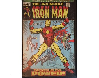 Iron Man Comics Book 47 Sign Wall Metal Sign plate Home decor 11.75 x 7.8 inch