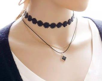 Tattoo Lace Choker Necklace Charm Long Tassel Adjustable Pendants Necklaces