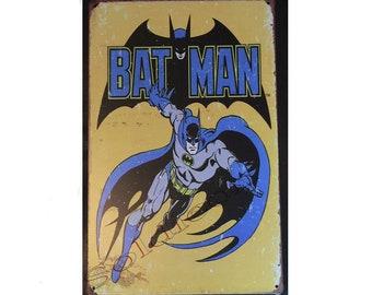 Batman Comics Sign Wall Metal Sign plate Home decor 11.75 x 7.8 inch