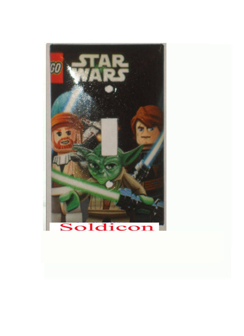 Lego Star Wars Light Switch Power Outlet Cover Plate Home Etsy