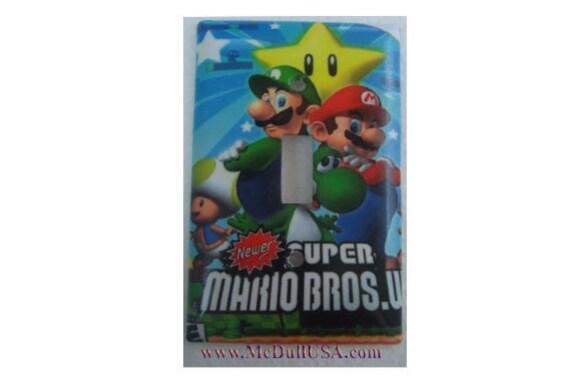 Super Mario Luigi /& Coin Light Switch Duplex Outlet wall Cover Plate Home decor