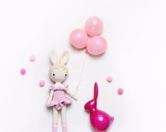kikalite Ballerina Bunny Charlotte - Crochet pattern • English / Spanish / Turkish / Italian / German • amigurumi crochet pattern