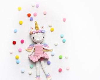 kikalite - Unicorn Emma - crochet pattern • English / German / Turkish / Italienisch •  Amigurumi