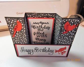 Happy Birthday Bridge Fold Card