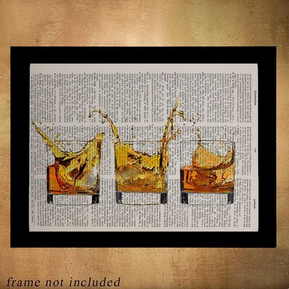 Phenomenal Whiskey Dictionary Art Print Print Bourbon Cocktail Art Scotch Decor Alcohol Bar Art Home Drink Gift Ideas Da610 Home Interior And Landscaping Oversignezvosmurscom