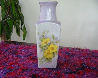 Vintage Hand Painted Vase ... Pretty, Floral Vase ... Decorative Vase ... Gift or Present ... Useful Size