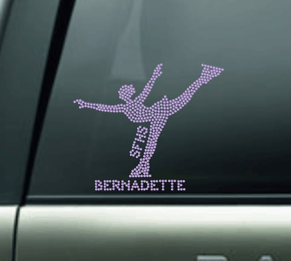 "ice figure skate 6.5/"" SKATING MOM vinyl decal car window laptop sticker"