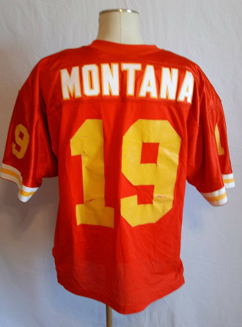 best loved d9e5c 18ced Vintage Joe Montana Kansas City Chiefs Wilson Pro Line Collectible Football  Jersey