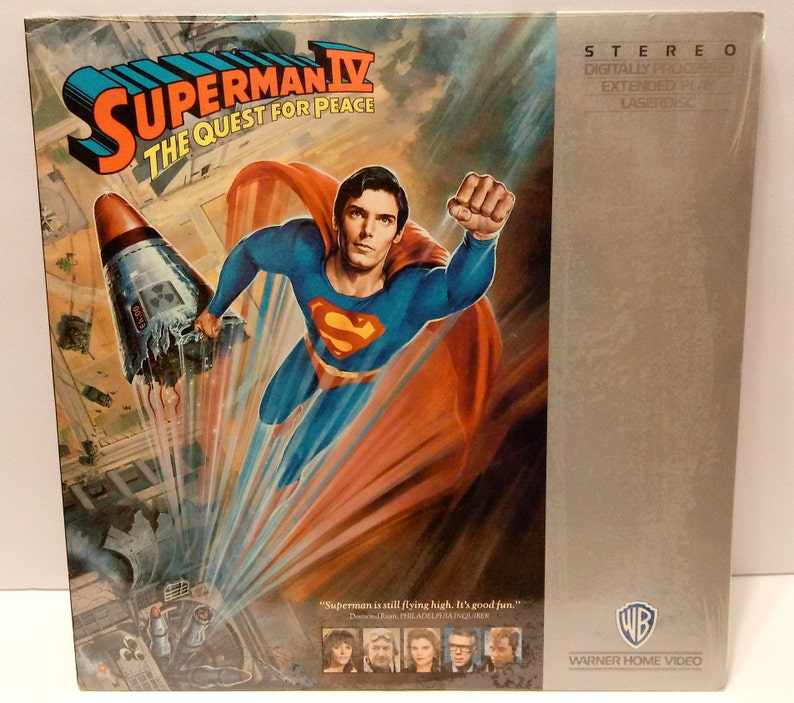 Vintage Superman 4 The Quest for Peace LaserDisc by Warner Home Video 1987   STILL SEALED!