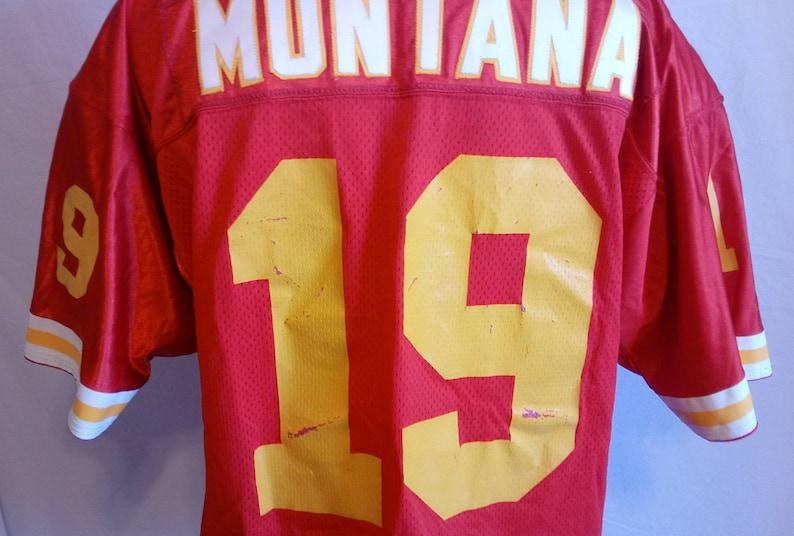 d300e742d Vintage Joe Montana Kansas City Chiefs Wilson Pro Line