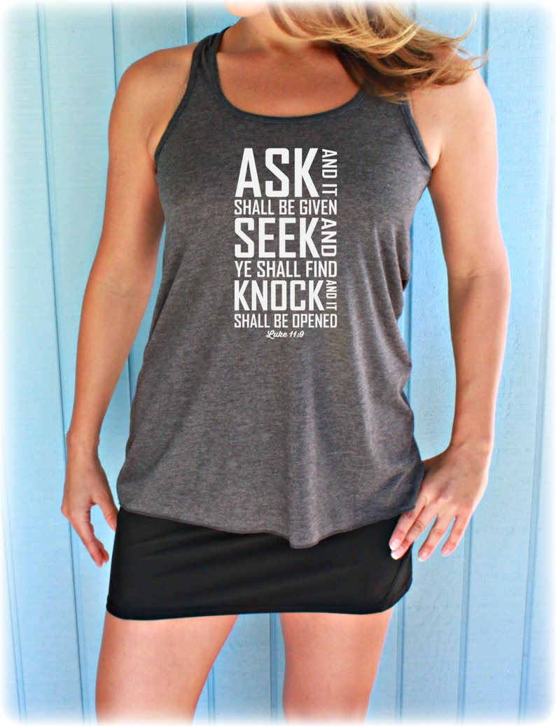 Womens Christian Clothing Workout Tank  Flowy Exercise Tank