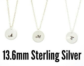 Silver initial necklace, Personalized jewelry, Initial necklace, personalized necklace, bridesmaid gift, sterling silver necklace