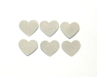 silver heart confetti, heart confetti, party confetti, wedding confetti, wedding decor