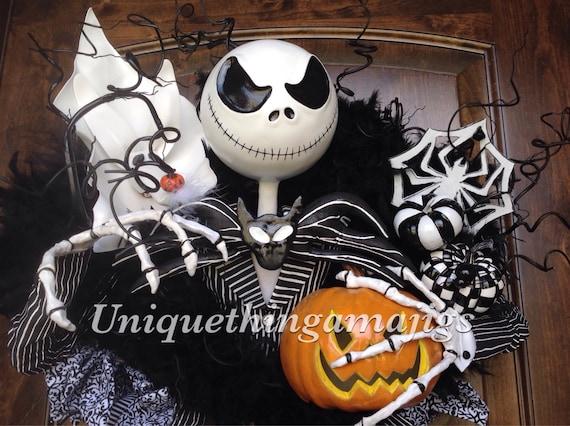 JACK Skellington Mask Nightmare Before Christmas Costume Di Halloween Accessorio