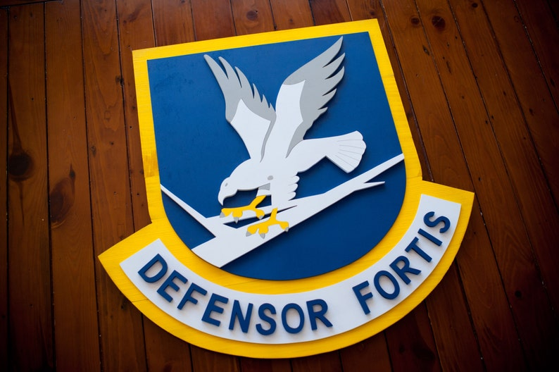 USAF Security Forces Wood Flag, Air Force Security Forces, Defensor Fortis,  Air Force, USAF Flag, Poilce, SP, Military, Army, Navy, Marines