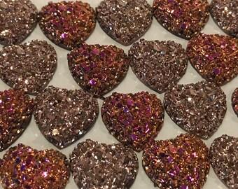 Glitter Heart Druzy Magnet