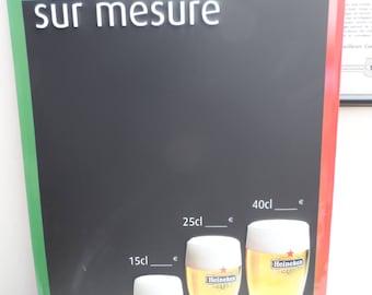 Original Restaurant Cafe Shop Bistro Blackboard Chalkboard Menu Board Heineken - Ideal for Home/Office/Bar/Cafe