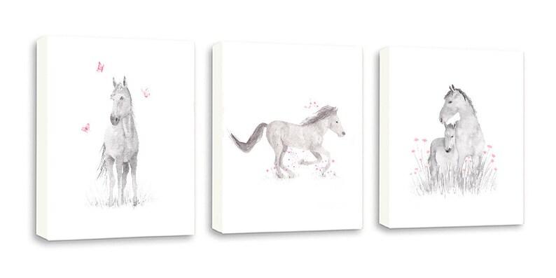 891f943474c Horse Wall Art Canvases Horse Print Watercolor Horses