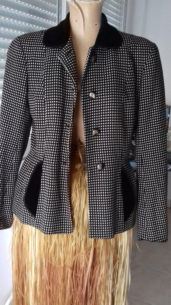 50's wool/velvet jacket