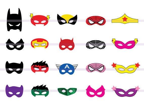 Instand dl 20 superhero masks cut out birthday party printable mask printable instand dl 20 superhero masks cut out birthday party printable mask printable maxwellsz