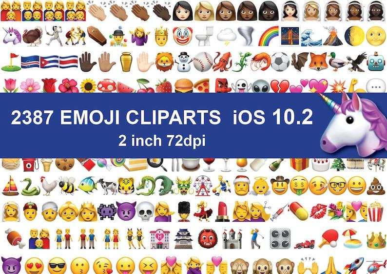Instand DL - 2387 Emoji Enitre Clipart images Emoticons clip art PNG Files  transparent background Digital Clipart Graphic ios 10 2
