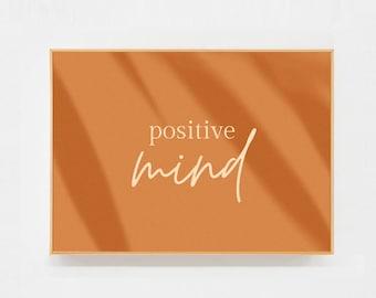 Postcard Positive mind - positive message