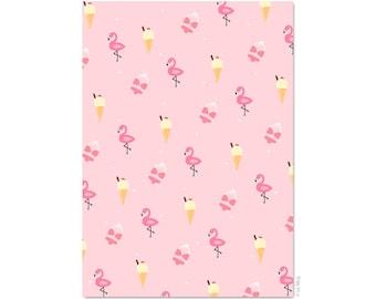Postcard Pink summer vibes (Flamingo & ice)