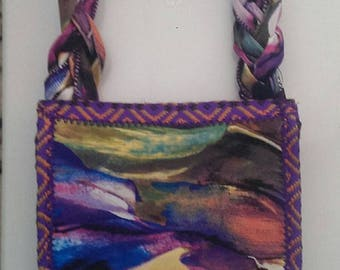 "Handbag clutch ""Purpple speaks"""