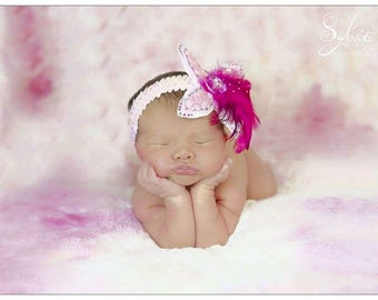 """Babies """"Angel feathers"""" Feather headbands"""