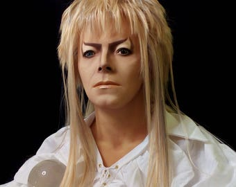 Labyrinth David Bowie Figure Bust Lifesize Doll Jareth Goblin King Statue Prop