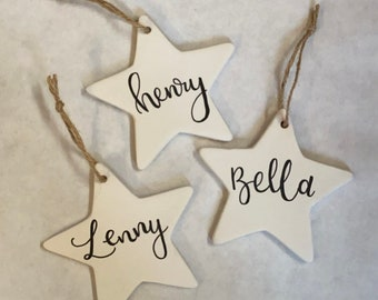 Personalised-ceramic-star-decoration
