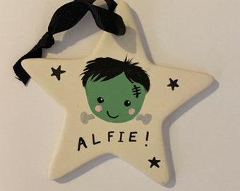 Ceramic-star-mini-Halloween-hanging