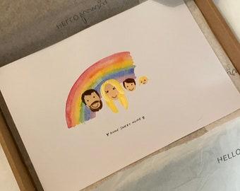 Rainbow-personalised-family-portrait