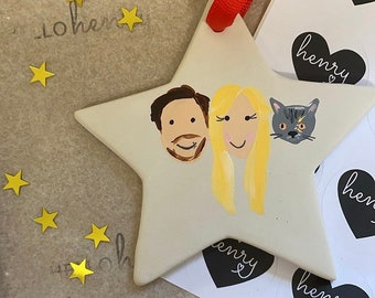 Family-Ceramic-Star-christmas-decoration