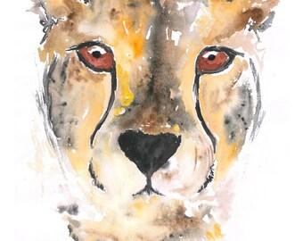 Cheetah-Watercolour-Print