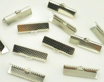 20pcs White K End caps,metal end Cap connectors,Tassel cap,Leather Cord Ends Pendant bead cap,Jewelry making caps 10.5x10mm