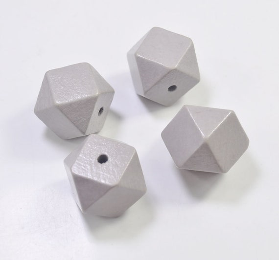 10pcs 20mm Gold And Silver Wooden Cube Unfinished Geometric Beads For Jewelry Making Necklace Diy Teething Jewelry Bead Beads & Jewelry Making Beads