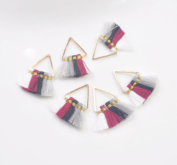 10Pcs Mixed Color Suede Tassels Charm DIY Pendants Necklace Jewelry Making