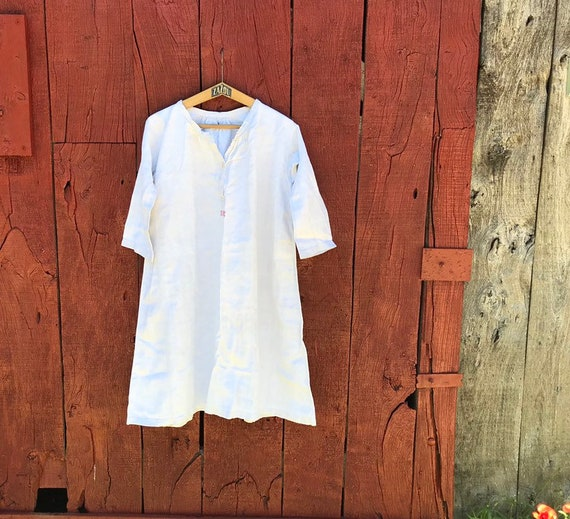 A vintage French linen tunic