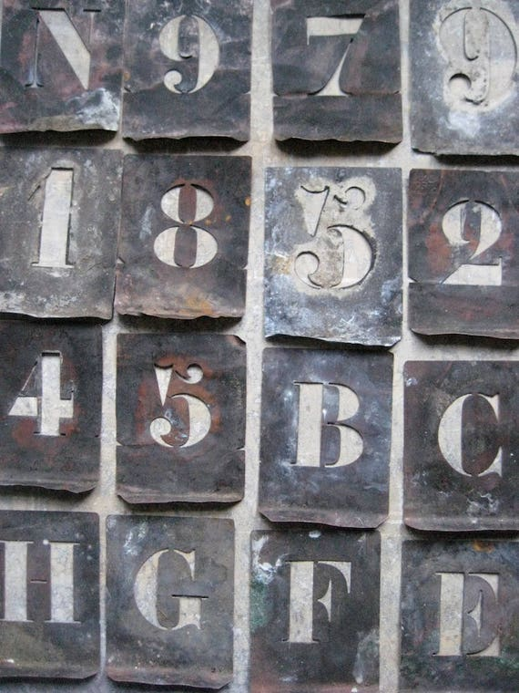 French Numbers Stencil Old Numbers Stencil Vintage French Numbers Stencil