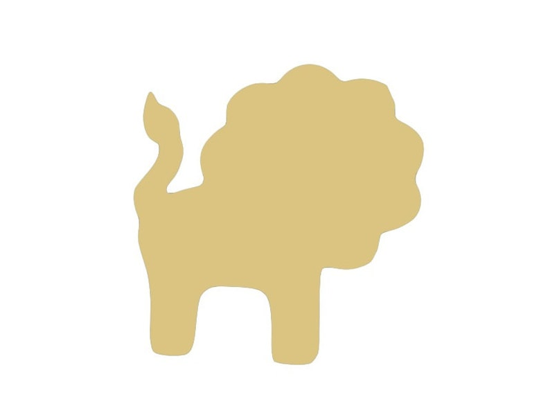 Toy Lion Unfinished Wood Shape Cut Outs Variety of Sizes USA Made Kids Nursery Theme