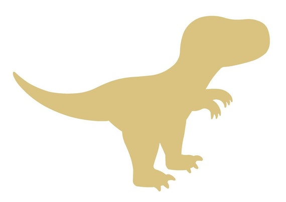 T-Rex Dinosaur Unfinished Wood Shape Cutout Variety Sizes USA