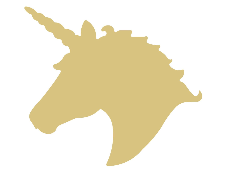 Unicorn Head Unfinished Wood Shape Cutout Variety Sizes USA Made ...