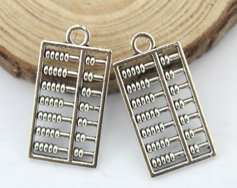 Counting Frame Charms Childrens Charms Abacus Charms x 5 Calculator Charms Math Lovers Charms Tibetan Silver Tone.UK Seller