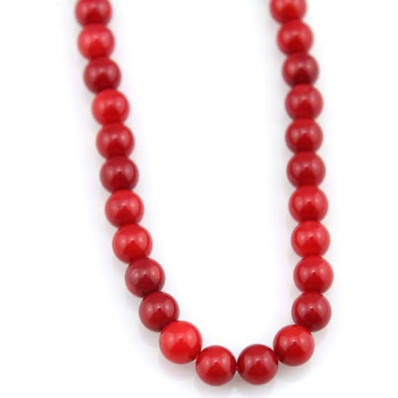 Red Bamboo Coral Beads 9.5mm 15.5 Inch 10mm 368054023 Round Beads