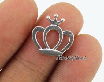 30 Crown Charms--Royalty Charms Tibetan Silver Tone Charms Pendants Jewelry Findings DIY Accessories--BF283